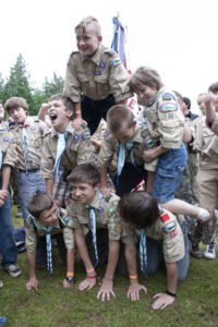 Scouts at Summer Camp